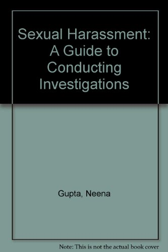 9780433438588: Sexual Harassment: A Guide to Conducting Investigations