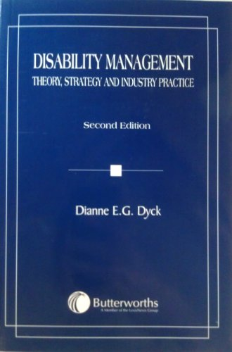 9780433439554: Disability Management: Theory, Strategy, and Industry Practice [Paperback] by...