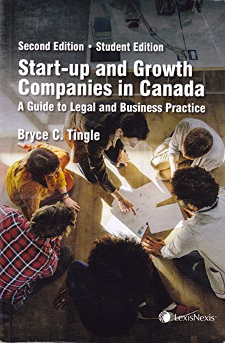 9780433442974: Start-Up and Growth Companies in Canada: A Guide to Legal and Business Practice