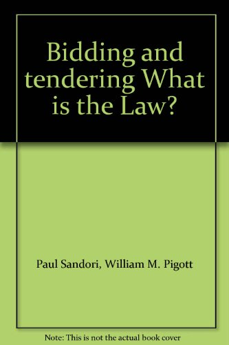 9780433457039: Bidding and tendering What is the Law?