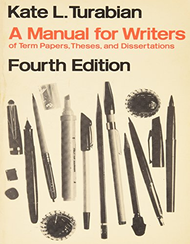 9780434799701: A manual for writers of research papers, theses and dissertations