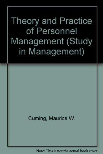 9780434902873: Theory and Practice of Personnel Management (Study in Management)