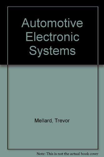 9780434912575: Automotive Electronic Systems