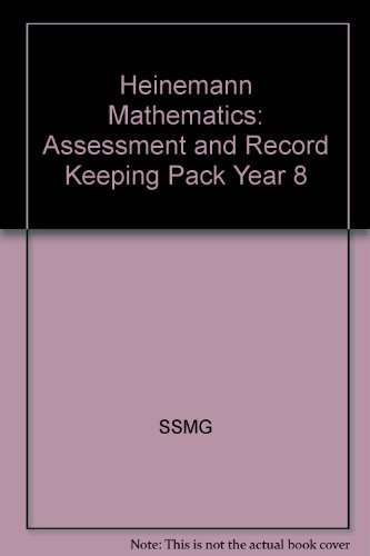 Heinemann Mathematics 8: Assessment and Record-keeping Pack (9780435039516) by Scottish Secondary Mathematics Group