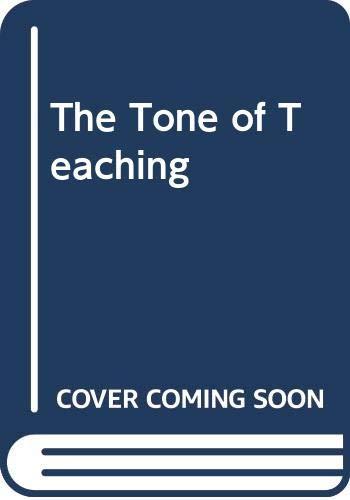 9780435082550: TONE OF TEACHING