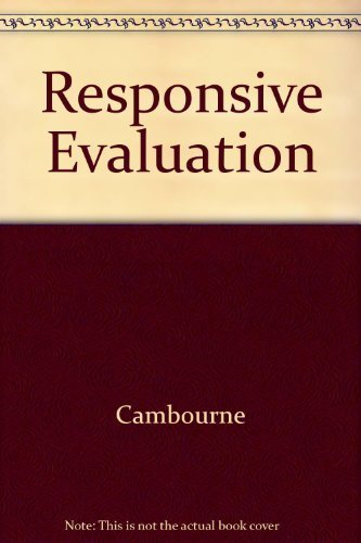 9780435088293: Responsive Evaluation: Making Valid Judgments About Student Literacy