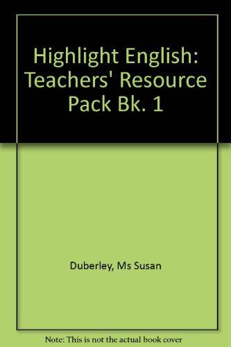 9780435103132: Highlight English: Teachers' Resource Pack Bk. 1