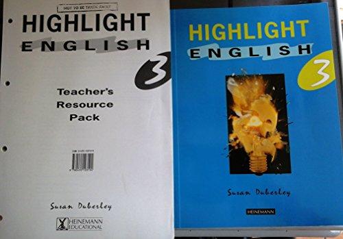 9780435103194: Highlight English: Teachers' Resource Pack Bk. 3