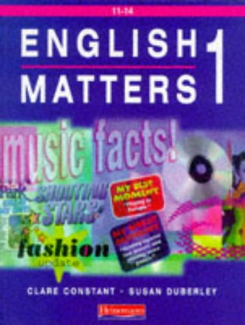 9780435105419: English Matters 11-14 Student Book 1: Student Book 1 Year 7