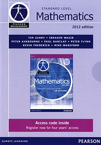9780435141912: Pearson Baccalaureate Standard Level Mathematics second edition ebook only edition for the IB Diploma: Industrial Ecology (Pearson International Baccalaureate Diploma: International Editions)