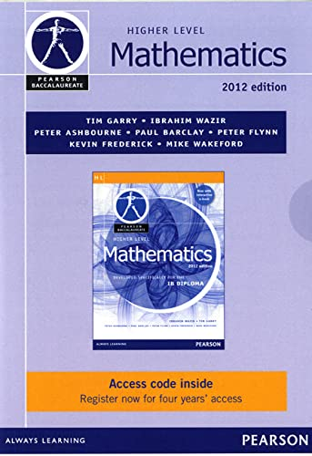 Pearson Baccalaureate Higher Level Mathematics Ebook Only: Wazir, Ibrahim;garry, Tim
