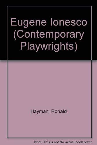 9780435184353: Eugene Ionesco (Contemporary Playwrights)
