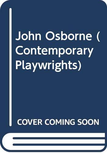 9780435184391: John Osborne (Contemporary Playwrights)