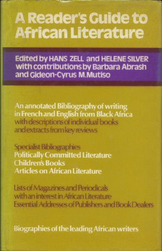 9780435187224: Reader's Guide to African Literature (Studies in African literature)