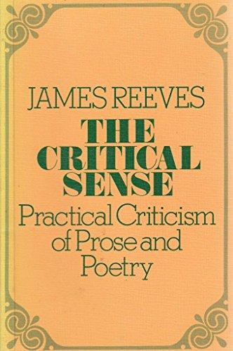 The Critical Sense: Reeves, James