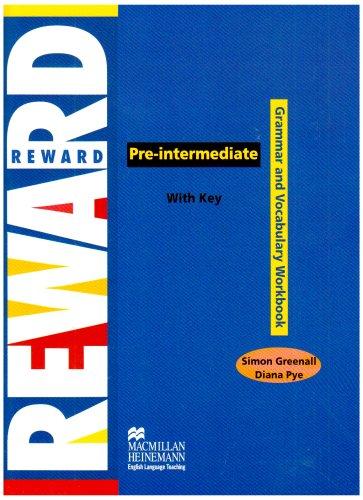 9780435242701: REWARD Pre-int Gram&Vocab Wb: Grammar and Vocabulary Workbook with Key