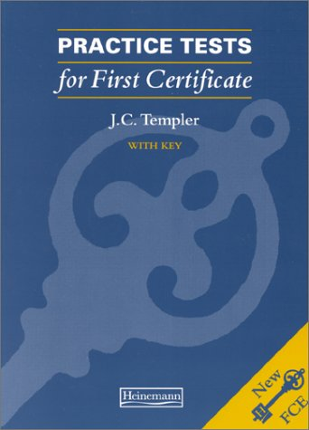 9780435244873: Practice Tests for First Certificate (with Key)