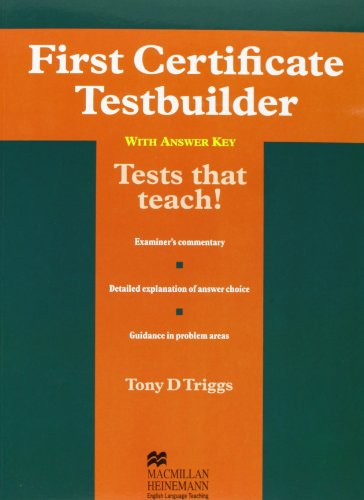 First Certificate Testbuilder: With Key