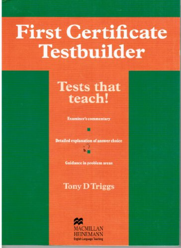 9780435244934: First Certificate Testbuilder: Without Key