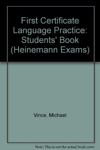 9780435281656: First Certificate Language Practice: Students' Book (Heinemann Exams)
