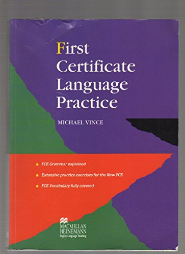 9780435281670: First Certificate Language Practice: Without Key