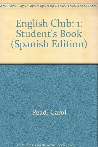 9780435286507: English club 1  student's book(edicion española): Student's Book (Spanish Edition)