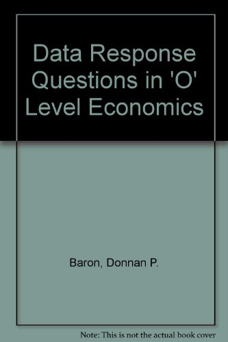 9780435335106: Data Response Questions in 'O' Level Economics