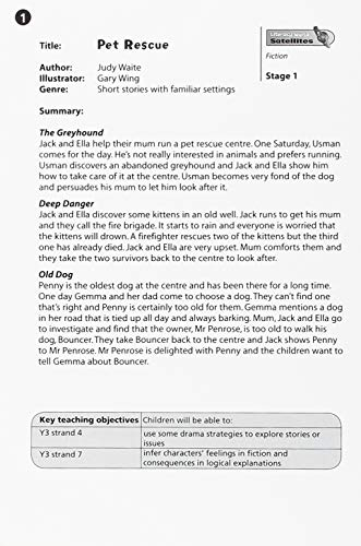 9780435340377: Literacy World Satellites Fiction Stage 1: Guided Reading Cards Pet Rescue Frwk Single