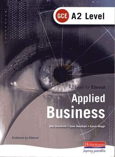 9780435352905: A2 GCE Applied Business: Edexcel