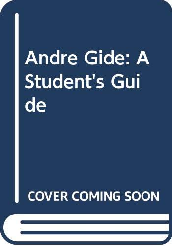 9780435375690: Andre Gide: A Student's Guide (Students' guides to European literature)