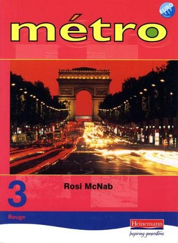 9780435379926: Metro 3 Rouge Pupil Book Euro Edition: Rouge level 3 (Metro for Key Stage 3)