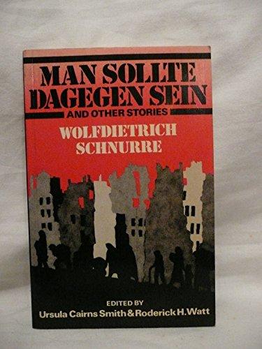 9780435387501: Man Sollte Dagegen Sein: And Other Stories
