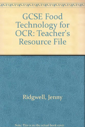 9780435419479: GCSE Food Technology for OCR Teacher's Resource File