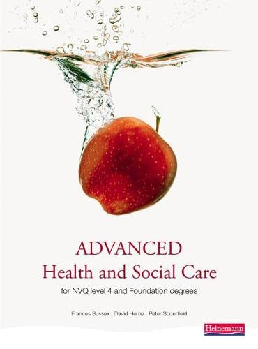 9780435500078: Advanced Health and Social Care for NVQ and Foundation Degrees