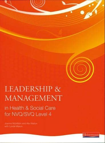 Leadership and Management in Health and Social: Dr Andrew Thomas,
