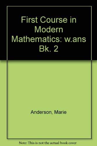 9780435500214: First Course in Modern Mathematics: w.ans Bk. 2