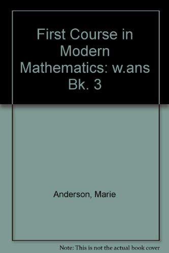 9780435500238: First Course in Modern Mathematics: w.ans Bk. 3