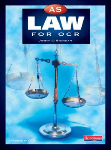 9780435551063: AS Law for OCR (A Level Law for OCR)