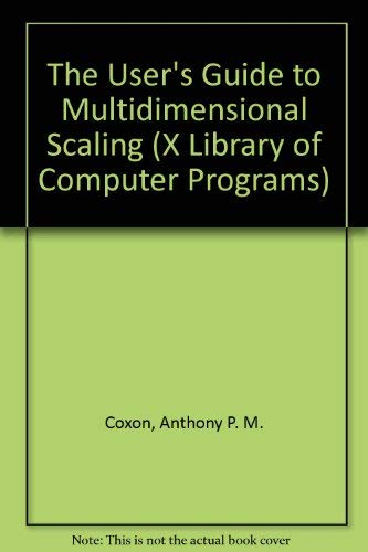 9780435822514: User's Guide to Multidimensional Scaling: With Special Reference to the MDS (X) Library of Computer Programs