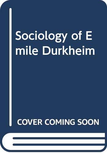 9780435826598: Sociology of Emile Durkheim