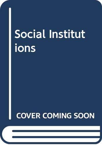 9780435829209: Social Institutions (Heinemann studies in sociology)