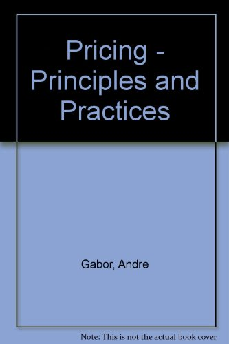 9780435843663: Pricing - Principles and Practices