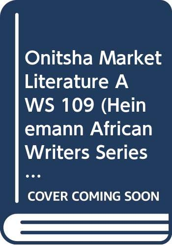 Onitsha Market Literature: Obiechina, E N