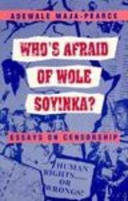 9780435909772: Who's Afraid of Wole Soyinka?: Essays on Censorship (Studies in African Literature)