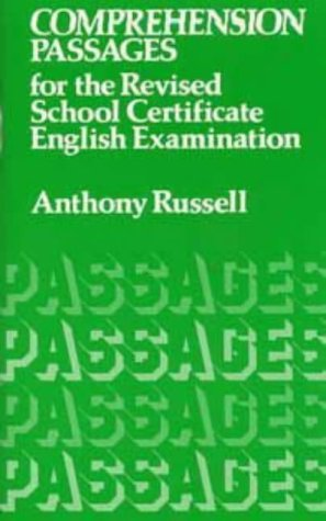 9780435927820: Comprehension Passages for the Revised School Certificate Examination