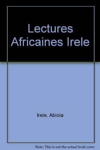 Lectures Africaines Irele: Abiola Irele