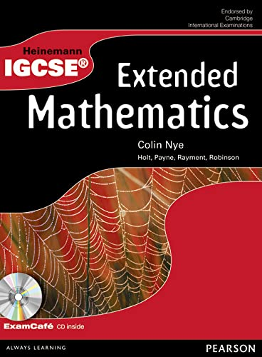 9780435966867: Heinemann IGCSE Extended Mathematics Student Book with Exam Cafe CD