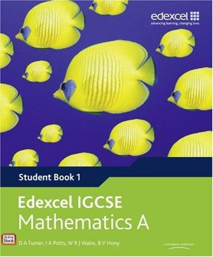 9780435966911: Edexcel International GCSE Mathematics A Student Book 1 with ActiveBook CD