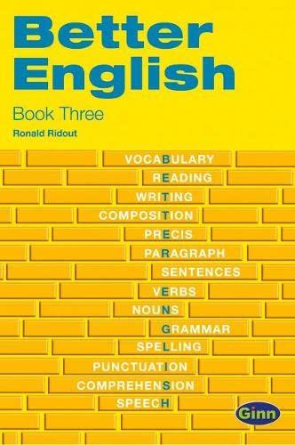 Better English: Bk. 3 (Ginn Better English): Ridout, Ronald
