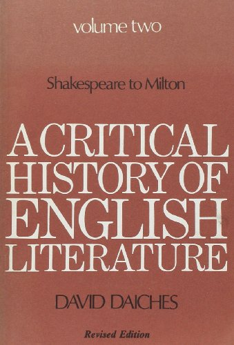 9780436121050: A Critical History of English Literature: v. 2